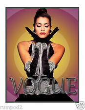 Vogue Poster/Woman in Black Dress/Vintage Vogue/Fashion  Reproductionn17x22in