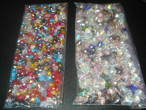 SWAROVSKI CRYSTAL FACETED TEARDROP BEADS MIXED SIZES &COLORS 5*7MM & 8*12MM(USA)
