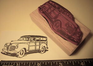 1941-2 Plymouth Woody Wagon (Chrysler) Car Rubber Stamp