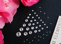 SWAROVSKI CRYSTALS FOILED FLAT-BACK 2058 CLEAR-  ALL SIZES RHINESTONE GEMS