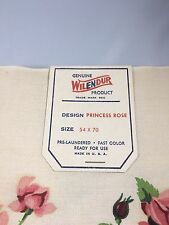 WILENDUR Princess Rose (3) Table Runners and (1) Tablecloth 54x70 tags still on