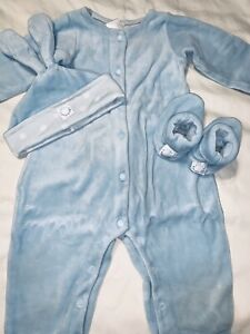 Anne Geddes Baby Boys Vintage 4 Pc Blue Bunny Outfit 6-12 Months RARE Easter