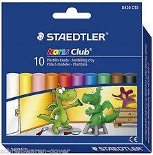 Knete Staedtler NorisClub 8420C10 Modelliermasse Plastilin 10 Farben Kartonetui