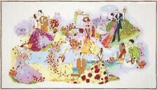 BLISSFUL MOMENTS ~ Art Deco ~ Romance in Paris ~ Fabric Panel ~ 102cm x 57cm