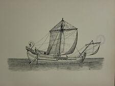 1936 SAILING SHIP PRINT ~ A ROMAN SAILING SHIP 200AD