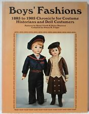 Bk BOYS FASHIONS 1885~1905 Felger Doll Costume History Clothing Patterns Clothes