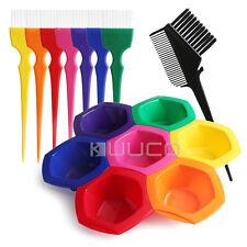 Hair Coloring Highlights Kits,Salon Rainbow Hair Color Mixing Bowl Brushes Comb