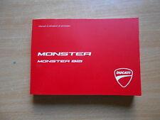 Manuel d`utilisation et entrtien Ducati Monster 821 manuel du conducteur