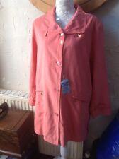 Gelcana Soft Leather look RainCoat/jacket BN Size 14(40) Peach Orange RRP £89.95