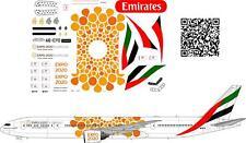 1/144 Airbus Boeing-777 Emirates EXPO 2020 Orange decals
