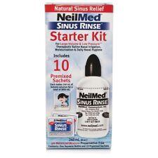 NeilMed Sinus Rinse Starter Kit Nasal Irrigation Relief All Natural 10 Sachets