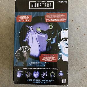Lightshow Projection Universal Monsters Silhouette LED Spotlight Halloween NIB