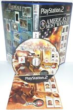 AMERICA'S 10 MOST WANTED - Playstation 2 Ps2 Play Station Bambini Gioco Game