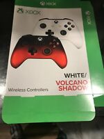 Wireless Controllers White /volcano Shadow GameStop Exclusive Promo Poster Box