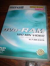 2  MAXWELL BLANK DVD's RAM,PARTIAL EDIT,RE-WRITABLE DISC.RECION 1 &2
