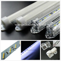 5M 10x 50cm 8520 36led SMD Cool White LED strip Aluminum case cover end cap 12V