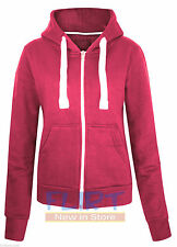 Womens Plus Size Hoodie Hooded Zipper Top SweatShirt Jacket Sweater 16 18 20 22