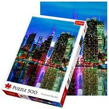 Trefl 500 Piezas Adulto Grande Manhattan Nueva York Luna llena Piso Rompecabezas Nuevo