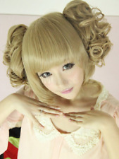 Hot Sale Sweet Light Brown Curly Short Fashion Charming Lolita Wig Hair