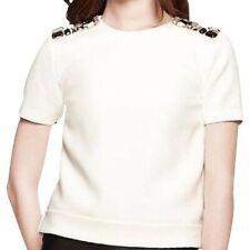 NWOT Kate Spade Jewel Shoulder Top White 4