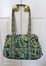 Vera Bradley Shoulder Bag Purse in Retired Rhythm and Blues Green Pattern EUC