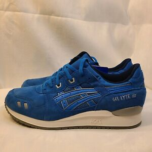 New Asics Gel Lyte III 3 Puddle Pack Blue Trainers Sneakers H5U3L Men's Size 14