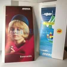 More details for late 1960's spanish airline iberia flight pack note paper drinks menu x2