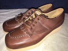 P. W. Minor Ortopédicas Marrón con Cordones Handle X Tacón Cómodo Zapato 6Un