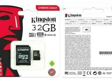 Kingston Micro SD SDHC memory Card Class 10 32GB Memory with SD card + Adapter