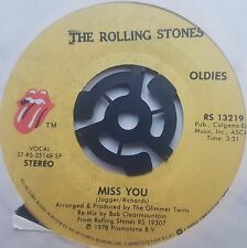 "Rolling Stones Miss You 7"" Vinyl Record Rock/Classic"
