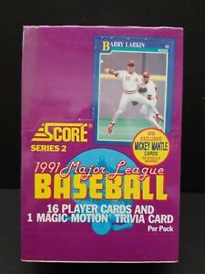 1991 Score Series 2 MLB Baseball Cards Wax Box 36 UNOPENED Packs