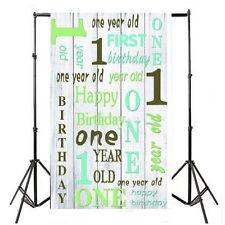 Happy Birthday Baby Kid Photography Background Vinyl 3x5FT Backdrop Studio Prop