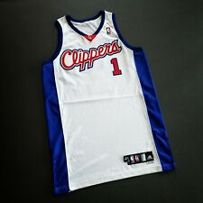 100% Authentic Baron Davis Adidas Clippers 09 10 Game Worn Issued Jersey Mens