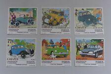 Hergé - Tintin - Lot 6 Autocollants Côte d'Or/Citroën/Tombola Capsa - 1984 - TBE