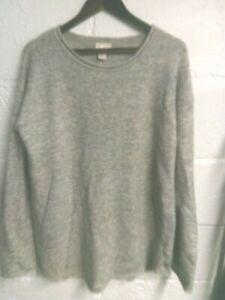 H&M grey mohair blend oversize jumper S/10-12