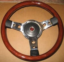 "New 13"" Wood Steering Wheel and Adaptor for MGB 1977-1980 Made in the UK"