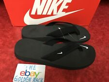 NIKE CELSO THONG BLACK/WHITE FLIP FLOPS BEACH SANDALS WOMENS 314870-011 SZ 6-11