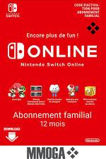 Nintendo Switch Online Abonnement familial 12 mois - 365 jours Compte - FR & UE