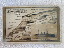 Rare WW1 Postcards Forcing Of Dardenelles 1915 HMS Doris