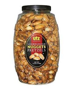 Utz Sourdough Nuggets Pretzels – 52 oz. Barrel – Bite-Size Pretzels with