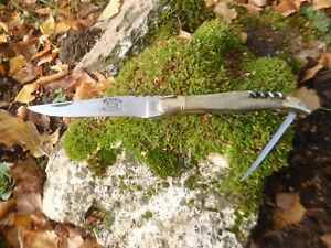 couteau laguiole ancien trois pieces tire bouchon