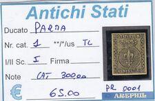 ANTICHI STATI - PARMA - PR0001 - NR. 1 LINGUELLATO - CATALOGO 300.00€