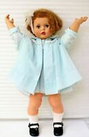 """Ideal's Penny Play Pal 32"""" 1959 Re-Dressed Blue Dotted Swiss Dress Coat"""