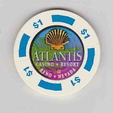 Vintage $1 chip from the Atlantis Casino in Reno, NV
