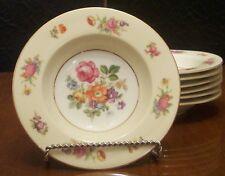 Rose China, Rimmed Soup Bowls, set of 6, Occupied Japan