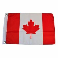 """Canada 12"""" X 18"""" Polyester Flag with Grommets #54"""