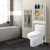 3-Tier Over-The-Toilet Storage Rack Bathroom Shelf Organizer Space Saver White