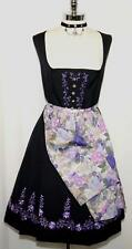 German DIRNDL Party Dress BLACK Austria Trachten Waitress OKTOBERFEST 18 XL