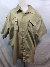 Boy Scout Uniform Shirt 67% Cotton 33% Poly Mens Adult Extra Large Xl No Patches