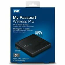 New Western Digital 3TB My Passport Wireless Pro External Portable Hard Disk WD